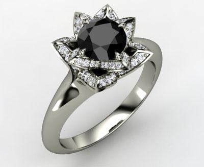 4e48d6b098ce Если хотите выделиться, не боитесь слишком большого к себе внимания –  выбирайте кольцо с черным бриллиантом. Ваше кольцо будет отличаться ото  всех колец ...